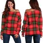 TartanClans Nesbitt Modern  Women's Off Shoulder Sweater