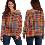 TartanClans Drummond Of Strathallan  Women's Off Shoulder Sweater