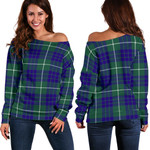TartanClans Hamilton Hunting Modern  Women's Off Shoulder Sweater