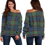 TartanClans Nicolson Hunting Ancient  Women's Off Shoulder Sweater