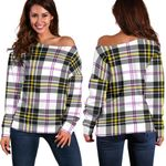 TartanClans Macpherson Dress Modern  Women's Off Shoulder Sweater