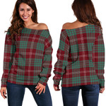 TartanClans Crawford Modern  Women's Off Shoulder Sweater