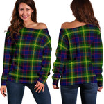 TartanClans Watson Modern  Women's Off Shoulder Sweater