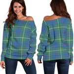 TartanClans Macintyre Hunting Ancient  Women's Off Shoulder Sweater