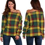 TartanClans Macmillan Old Modern  Women's Off Shoulder Sweater