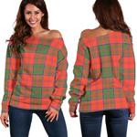 TartanClans Grant Ancient  Women's Off Shoulder Sweater
