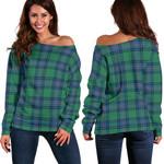 TartanClans Shaw Ancient  Women's Off Shoulder Sweater
