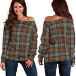 TartanClans Fergusson Weathered  Women's Off Shoulder Sweater