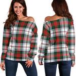 TartanClans Macduff Dress Modern  Women's Off Shoulder Sweater