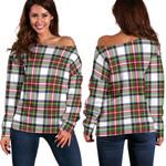 TartanClans Stewart Dress Modern  Women's Off Shoulder Sweater