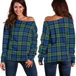 TartanClans Baird Ancient  Women's Off Shoulder Sweater