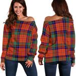 TartanClans Nicolson Ancient  Women's Off Shoulder Sweater