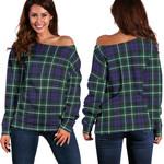 TartanClans Graham Of Montrose Modern  Women's Off Shoulder Sweater
