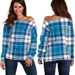 TartanClans Roberton  Women's Off Shoulder Sweater