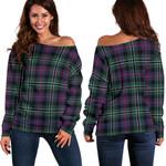 TartanClans Rose Hunting Modern  Women's Off Shoulder Sweater