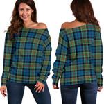 TartanClans Colquhoun Ancient  Women's Off Shoulder Sweater