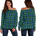 TartanClans Lyon  Women's Off Shoulder Sweater