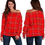 TartanClans Burnett Modern  Women's Off Shoulder Sweater