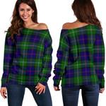 TartanClans Macthomas Modern  Women's Off Shoulder Sweater