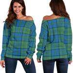 TartanClans Lockhart  Women's Off Shoulder Sweater