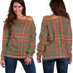 TartanClans Mackinnon Ancient  Women's Off Shoulder Sweater
