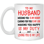 Gifts for husband - G2-Loving you is my life mug - GST
