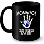 Mom And Son Best Friends For Life - Full-Wrap Coffee Black Mug