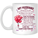 To My Husband PROMISE THAT I WILL LOVE YOU Handle Mug