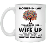 Mother-in-law Thanks For Not Putting My Wife Up Gift For Mom