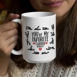 Gift For Him For Her You're My Favorite Cardio Workout Naughty Mug