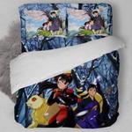 Inuyasha Bed Set Miroku And Sango Bedding Anime Gift For Fans
