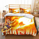 Fairy Tail Bed Set Yellow Natsu Bedding Anime Gift For Fans