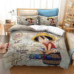 One Piece Bed Set Luffy Bedding Anime Gift For Fans