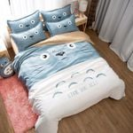 My Neighbor Totoro Bed Set Face Totoro Bedding Anime Gift For Fans