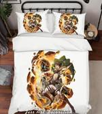 Attack On Titan Bed Set Eren Jaegar Anime Gift For Fans