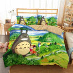 My Neighbor Totoro Bed Set Totoro And Friends Bedding Anime Gift For Fans