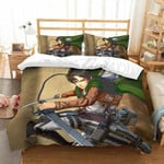 Attack On Titan Bed Set Levi Ackerman Strong Anime Gift For Fans