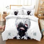 Tokyo Ghoul Bed Set White Kaneki Ken Bedding Anime Gift For Fans