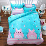 My Neighbor Totoro Bed Set Pink Totoro Bedding Anime Gift For Fans