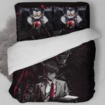 Death Note Bed Set Black Kira Bedding Anime Gift For Fans