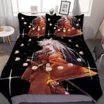 Inuyasha Bed Set Black Inuyasha Bedding Anime Gift For Fans