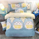 My Neighbor Totoro Bed Set Blue Totoro Bedding Anime Gift For Fans