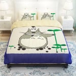 My Neighbor Totoro Bed Set Totoro And Chibi Totoro Bedding Anime Gift For Fans