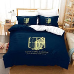 Attack On Titan Bed Set Blue Survey Corps Anime Gift For Fans