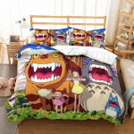 My Neighbor Totoro Bed Set Catbus And Totoro Bedding Anime Gift For Fans
