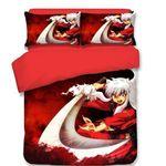 Inuyasha Bed Set Burning Inuyasha Bedding Anime Gift For Fans