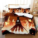 Attack On Titan Bed Set Brilliant Levi Ackerman Anime Gift For Fans