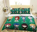 Fairy Tail Bed Set Green Lucy Bedding Anime Gift For Fans