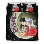Inuyasha Bed Set Loved Kagome And Inuyasha Bedding Anime Gift For Fans