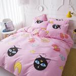 Sailor Moon Bed Set Pink Luna Bedding Anime Gift For Fans